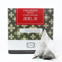 Fukamushi Sencha Biologico Giapponese in filtro
